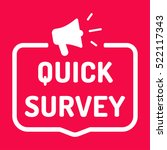 quick survey. badge with... | Shutterstock .eps vector #522117343