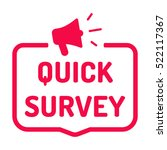 quick survey. badge with... | Shutterstock .eps vector #522117367