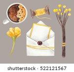 envelope and blank paper ...   Shutterstock . vector #522121567