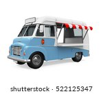 food truck isolated. 3d... | Shutterstock . vector #522125347