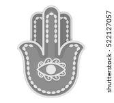 hamsa icon in monochrome style... | Shutterstock . vector #522127057
