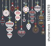 set of chalkboard christmas...   Shutterstock .eps vector #522130753