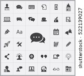 conversation icon. blog icons... | Shutterstock .eps vector #522139027