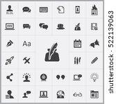 blog icons universal set for... | Shutterstock .eps vector #522139063