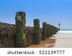 Wooden Groyne Coastal Defence...