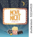 night movie party invitation... | Shutterstock .eps vector #522144523