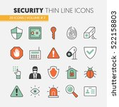 security and safety thin line... | Shutterstock .eps vector #522158803