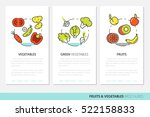 fruits and vegetables thin line ...   Shutterstock .eps vector #522158833