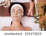 applying facial mask at woman... | Shutterstock . vector #522173023