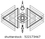 blackwork tattoo flash. | Shutterstock .eps vector #522173467