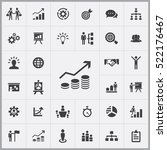 business strategy icons... | Shutterstock .eps vector #522176467
