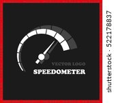 speedometer logo icon vector... | Shutterstock .eps vector #522178837