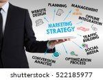 marketing strategy concept ... | Shutterstock . vector #522185977