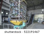 conveyer for plastic recycling... | Shutterstock . vector #522191467