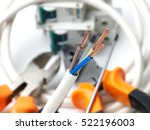 stripped wire in front of... | Shutterstock . vector #522196003