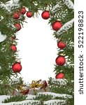 christmas frame with...