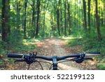 mountain biking down hill... | Shutterstock . vector #522199123