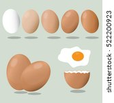 eggs on a blue background.... | Shutterstock .eps vector #522200923