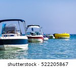 Motor Boats At The Pier In The...
