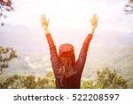 lose woman happy feeling  good... | Shutterstock . vector #522208597
