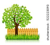 nature background with green... | Shutterstock .eps vector #522223093