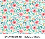 seamless floral pattern with...   Shutterstock .eps vector #522224503