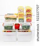 frozen food in the refrigerator....   Shutterstock . vector #522227707