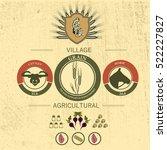 vintage infographic of... | Shutterstock .eps vector #522227827