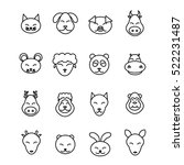 different animals vector. icons ... | Shutterstock .eps vector #522231487