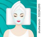 spa illustration with girl... | Shutterstock .eps vector #522241393