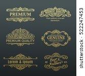 vintage vector golden banners... | Shutterstock .eps vector #522247453