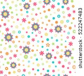 seamless floral pattern with... | Shutterstock .eps vector #522247483