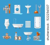 plumbing and sanitary... | Shutterstock .eps vector #522256537