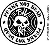 punk rock logo. | Shutterstock .eps vector #522260893