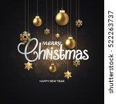 abstract christmas winter... | Shutterstock .eps vector #522263737