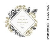 floral wedding invitation.... | Shutterstock .eps vector #522274027