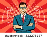 man with muscles currency... | Shutterstock .eps vector #522275137