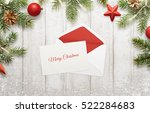 merry christmas greeting on... | Shutterstock . vector #522284683