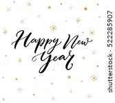 happy new year text.... | Shutterstock .eps vector #522285907