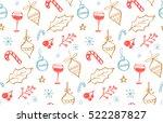winter holidays seamless... | Shutterstock .eps vector #522287827