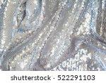 sequin textile background | Shutterstock . vector #522291103