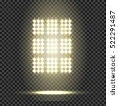 glowing spotlights. set of...   Shutterstock .eps vector #522291487