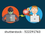 hacker try to stealing data and ... | Shutterstock .eps vector #522291763