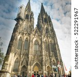 Small photo of COLOGNE, GERMANY - DECEMBER 15, 2016: Image of the famous cathedral in Cologne Germany