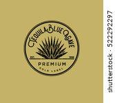 tequila logo. gold tequila... | Shutterstock .eps vector #522292297