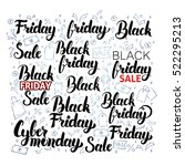 black friday lettering with... | Shutterstock .eps vector #522295213
