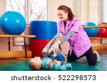 cute kid with disability has... | Shutterstock . vector #522298573