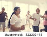diversity people exercise class ... | Shutterstock . vector #522303493