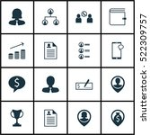 set of 16 management icons. can ... | Shutterstock .eps vector #522309757