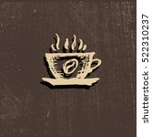 vector icon of coffee cup ... | Shutterstock .eps vector #522310237